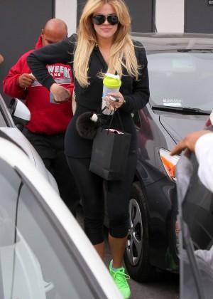 Khloe Kardashian - Leaving a hair salon in Beverly Hills