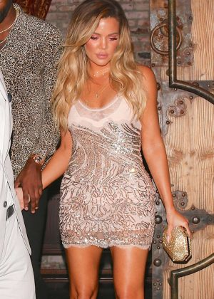 Khloe Kardashian - Leaving her 33rd Birthday Party in West Hollywood
