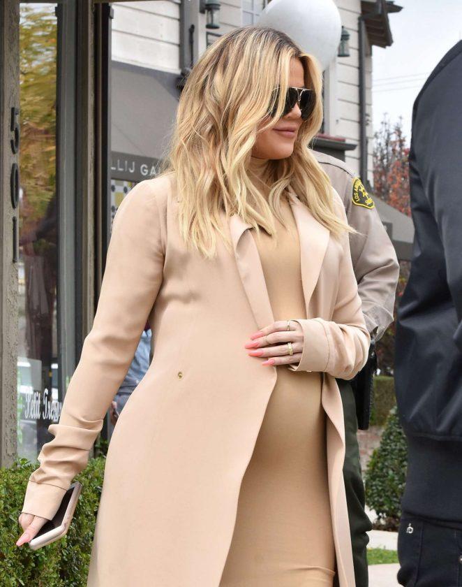 Khloe Kardashian - Leaving Petit Tresor in Los Angeles