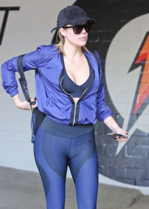 Khloe Kardashian in Spandex Leaving the gym in Los Angeles