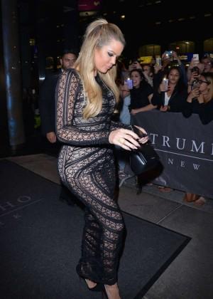 Khloe Kardashian - Leaving the Trump Soho Hotel in NY