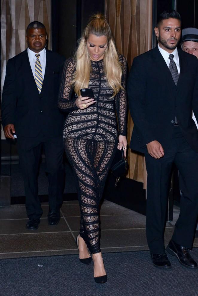 Khloe Kardashian: Leaving The Trump Soho Hotel -14