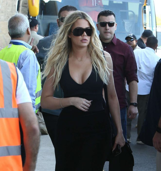 Khloe Kardashian on a flight in Costa Rica