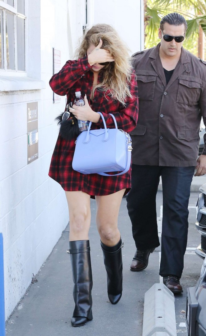 Khloe Kardashian in Red Shirt Out in LA