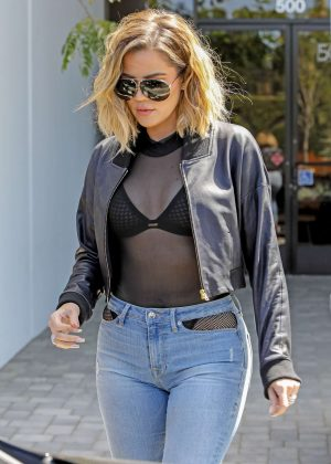 Khloe Kardashian out and about in West Village