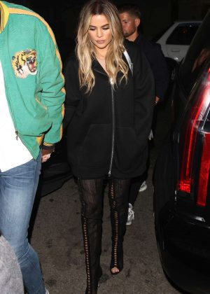 Khloe Kardashian - Out for dinner in Beverly Hills