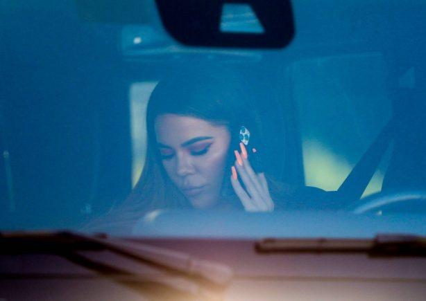 Khloe Kardashian - Seen leaving her rental property in Malibu