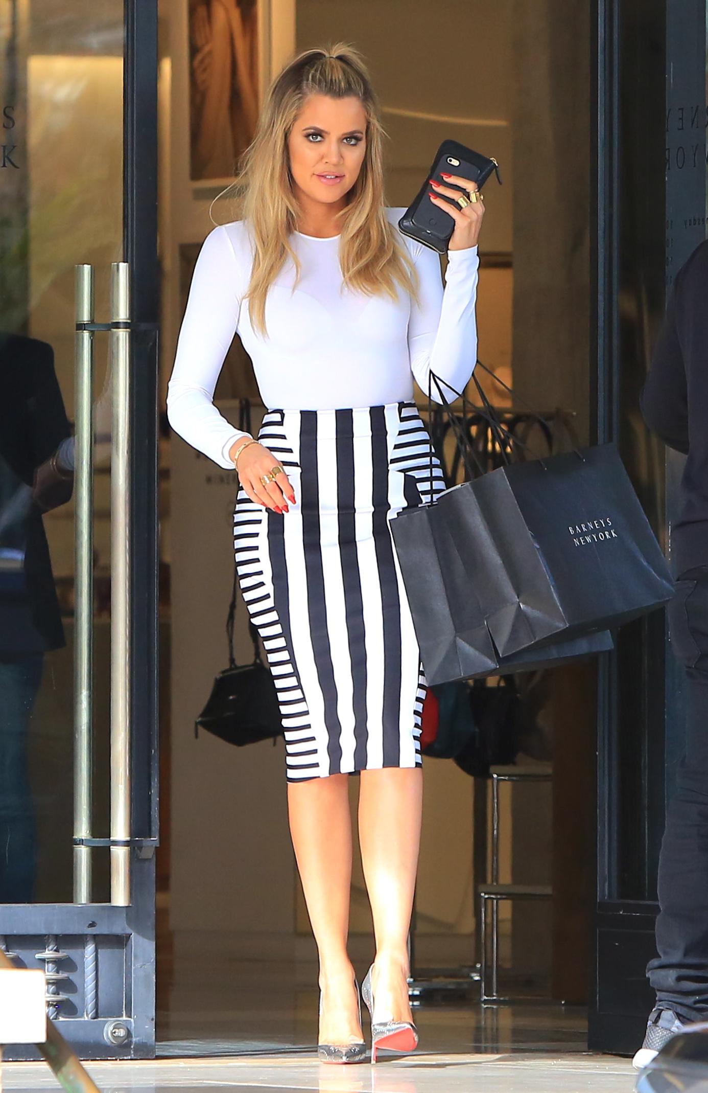 Khloe Kardashian Shopping at Barney's New York in Beverly Hills
