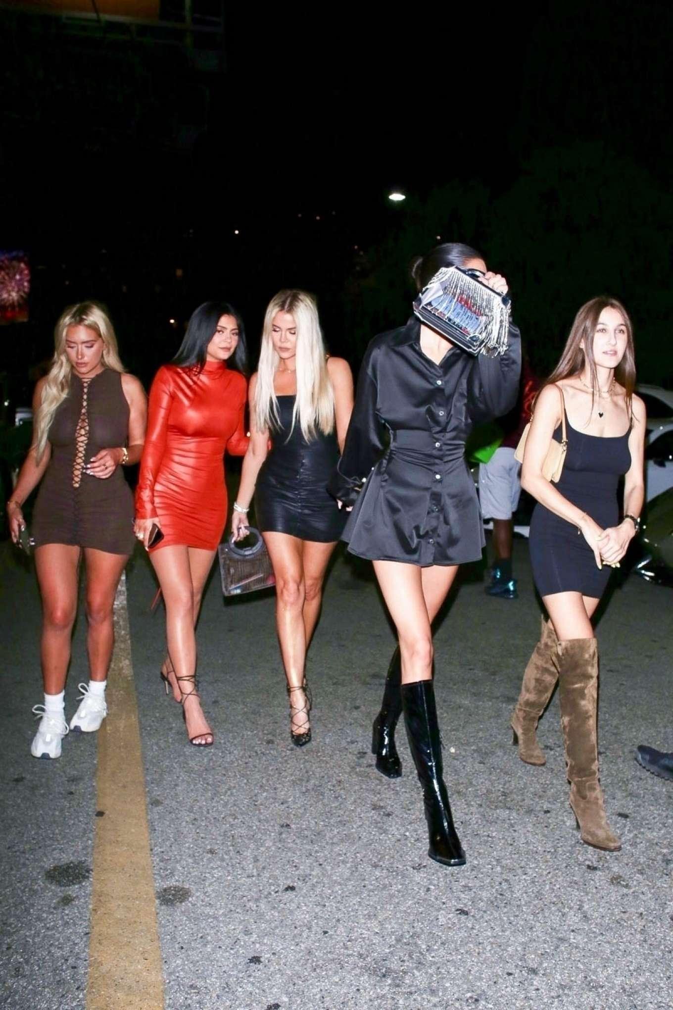 Khloe Kardashian, Stassie Karanikolaou, Kylie and Kendall Jenner - Night out in LA