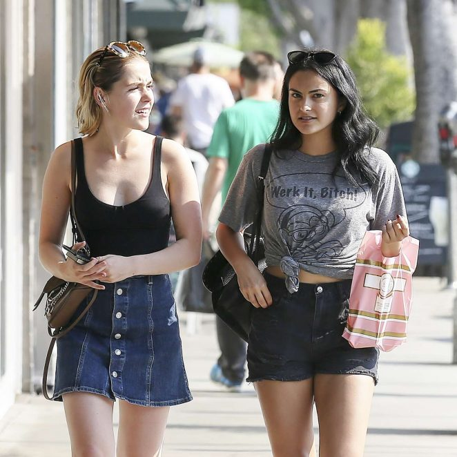 Kiernan Shipka And Camila Mendes Shopping In Los Angeles