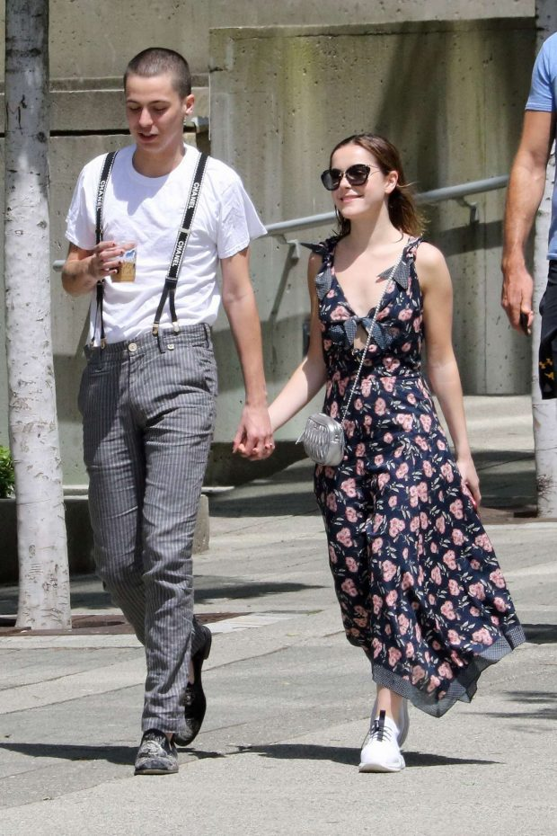Kiernan Shipka and Charlie Oldman - Out in Vancouver