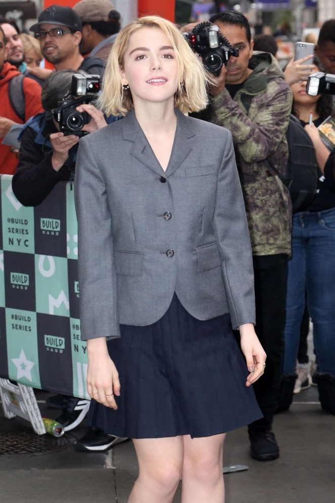 Kiernan Shipka - Arrives at AOL Build Series in NYC