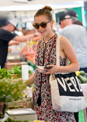 Kiernan Shipka at Farmer's Market in Santa Monica