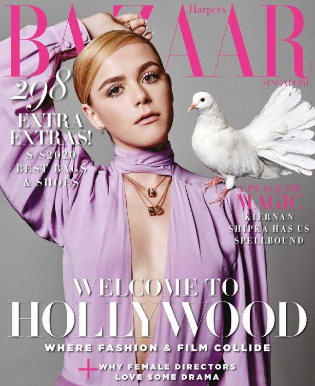 Kiernan Shipka by Yu Tsai for Harper's Bazaar Singapore Cover (April 2020)