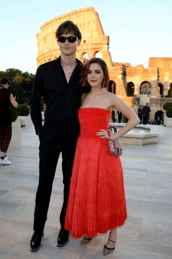 Kiernan Shipka - Cocktail and Fendi Couture Fall Winter 2019-2020 in Rome