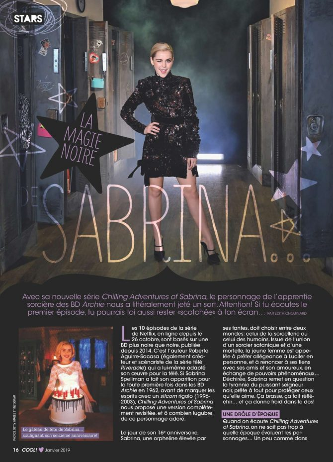 Kiernan Shipka – Cool Canada Magazine (January 2019)