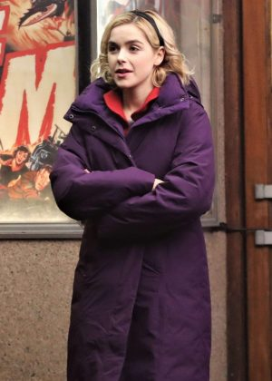 Kiernan Shipka - Filming 'The Chilling Adventures of Sabrina' in Vancouver