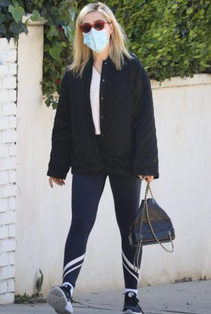 Kiernan Shipka - In a workout leggings for a gym session in Beverly Hills