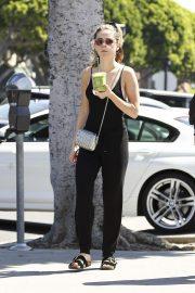 Kiernan Shipka in Black Jumpsuit - Out in Los Angeles