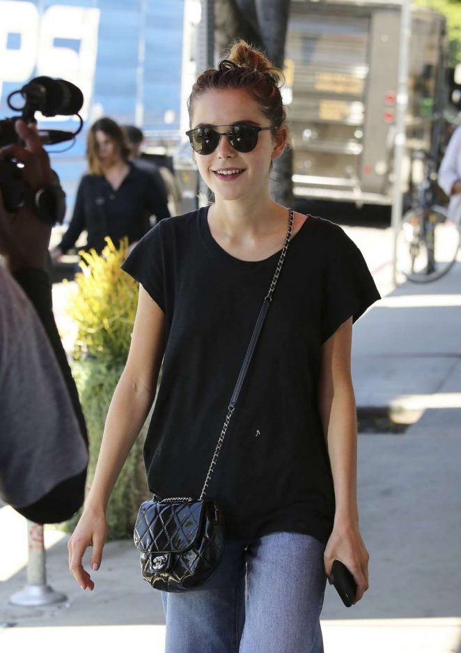 Kiernan Shipka in Jeans Out in Los Angeles