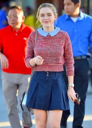 Kiernan Shipka in Mini Skirt Out in Santa Monica