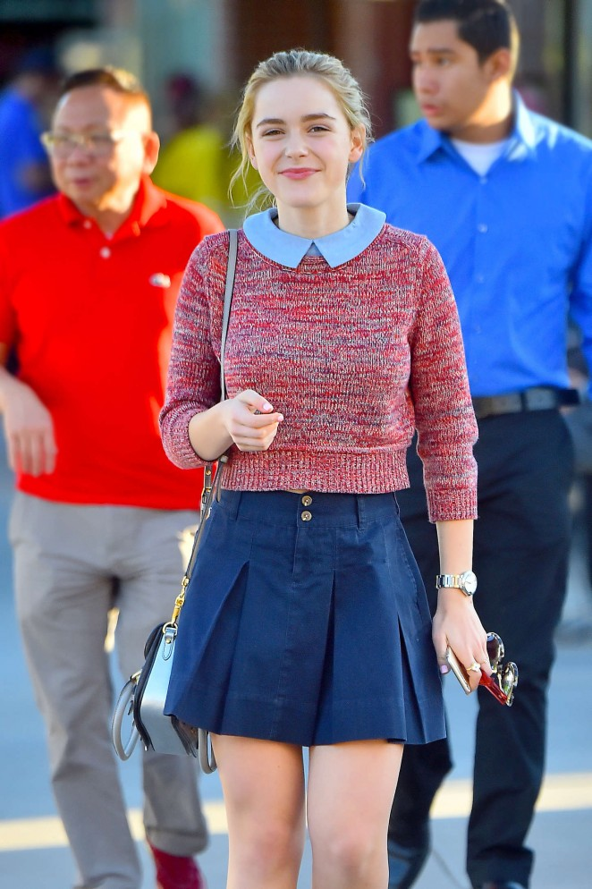 Kiernan Shipka in Mini Skirt Out in Santa Monica