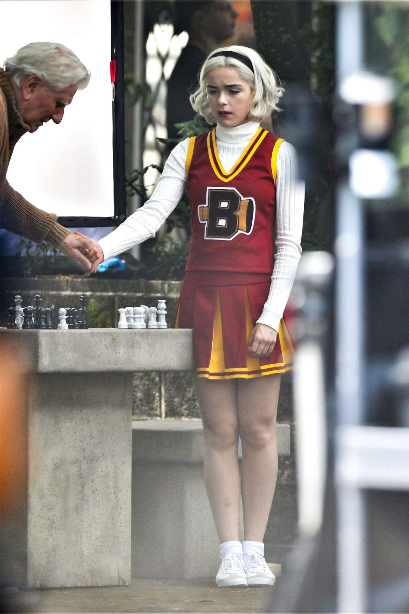 Kiernan Shipka - On the set of 'Chilling Adventures of Sabrina' in Vancouver
