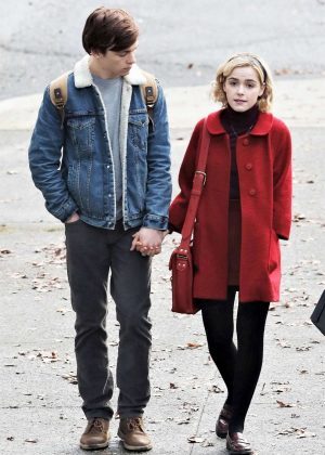 Kiernan Shipka on the set of 'Sabrina the Teenage Witch' in Vancouver