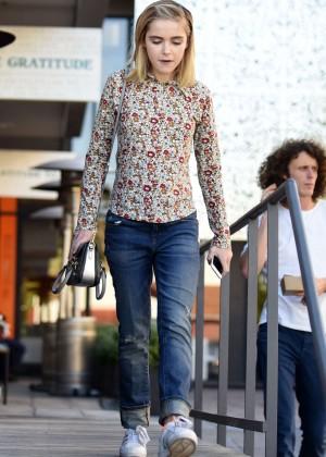 Kiernan Shipka in Jeans Out in Los Angeles