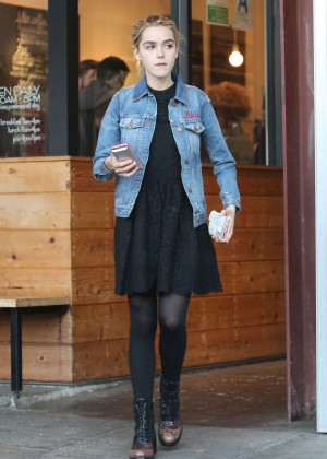 Kiernan Shipka in Mini Dress Out in Los Angeles