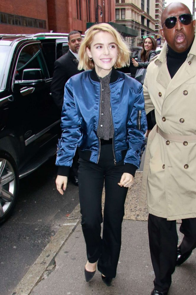 Kiernan Shipka - Out and about in NYC