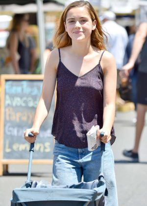 Kiernan Shipka Shopping at Farmers Market in Studio City
