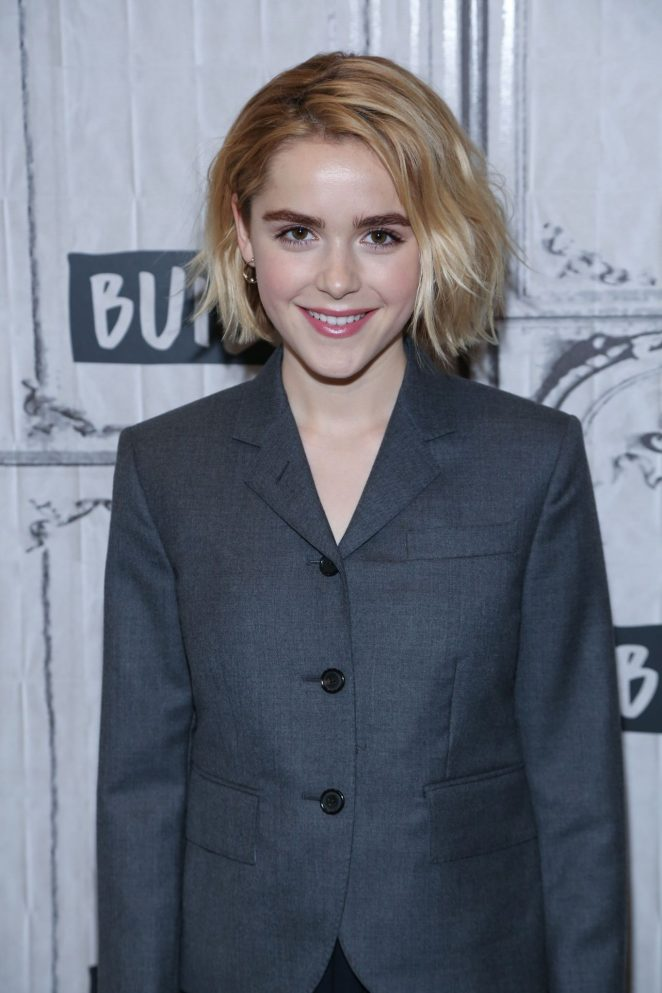 Kiernan Shipka - Visits AOL Build in NYC