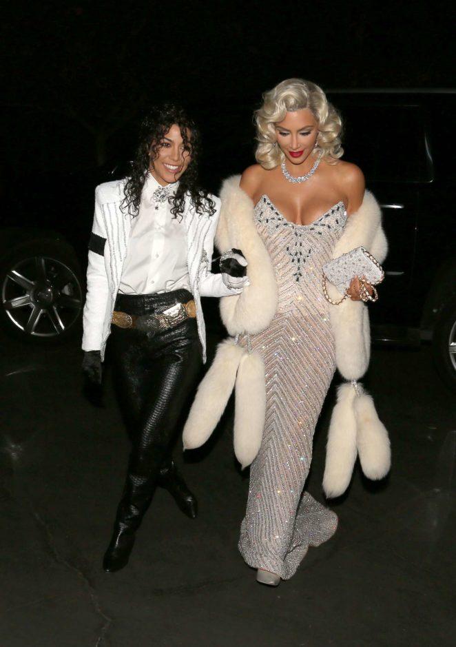 Kim and Kourtney Kardashian Heads to a party in LA