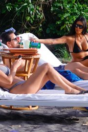 Kim and Kourtney Kardashian in Bikini on vacation in Puntarenas