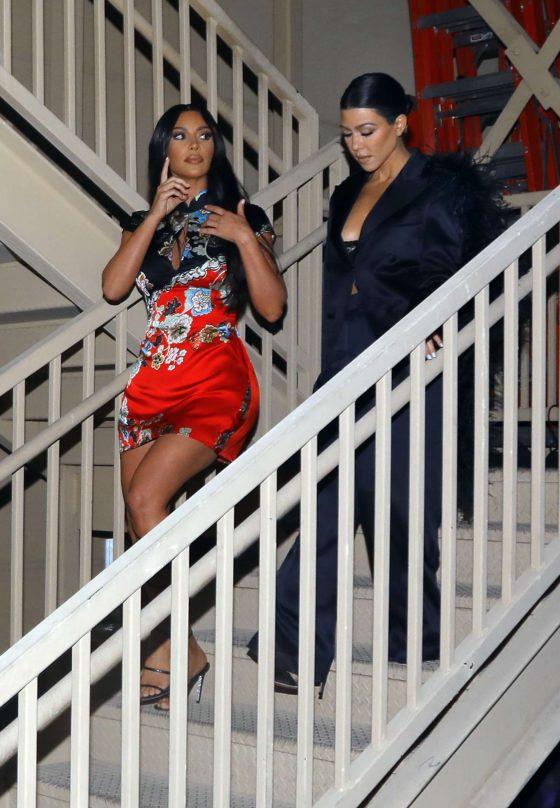 Kim and Kourtney Kardashian - Out in Las Vegas