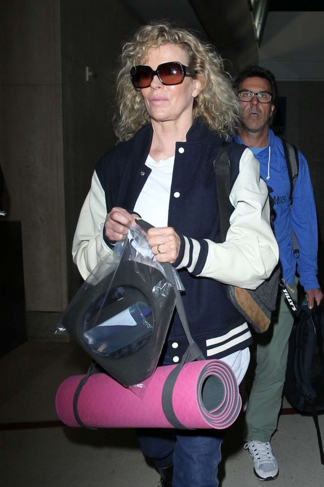 Kim Basinger at LAX Airport in Los Angeles