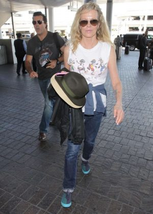 Kim Basinger in Jeans at LAX airport in Los Angeles