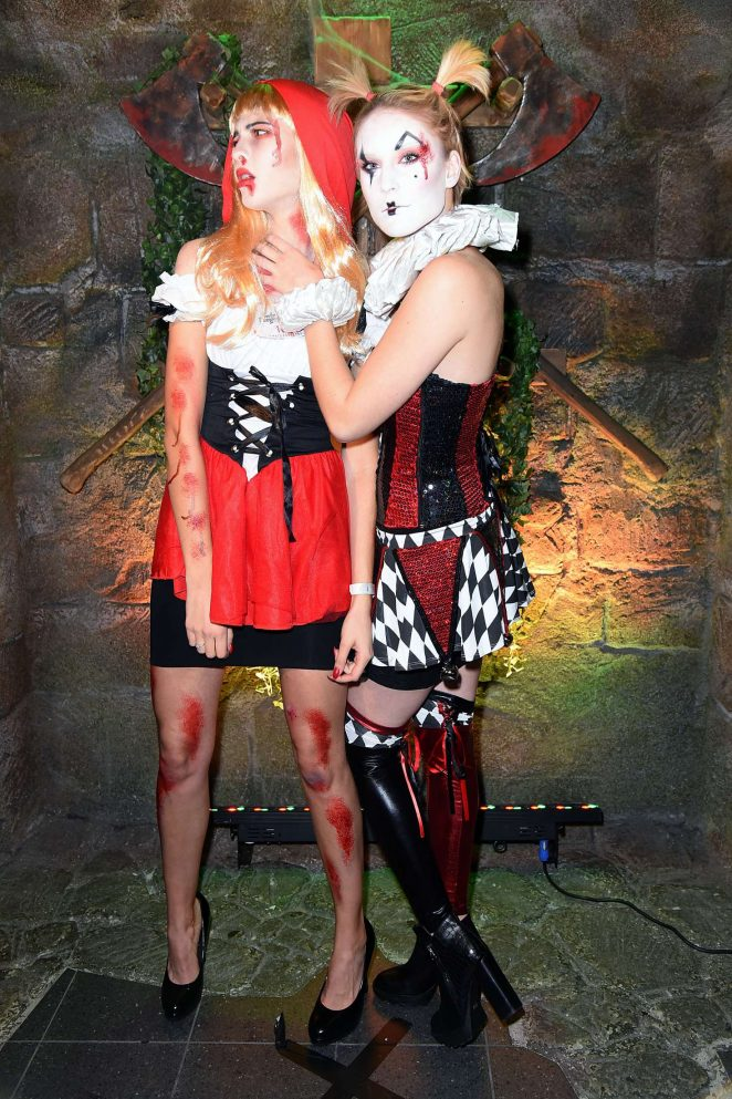 Kim Hnizdo and Fata Hasanovic - Halloween Party hosted by Natascha Ochsenknecht in Mitte