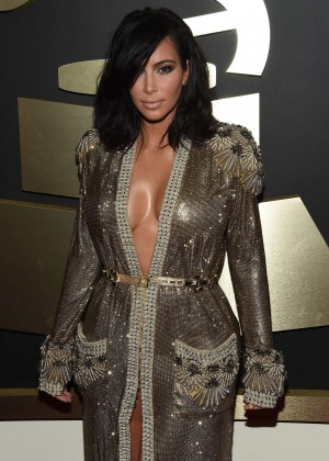 Kim Kardashian - GRAMMY Awards 2015 in Los Angeles