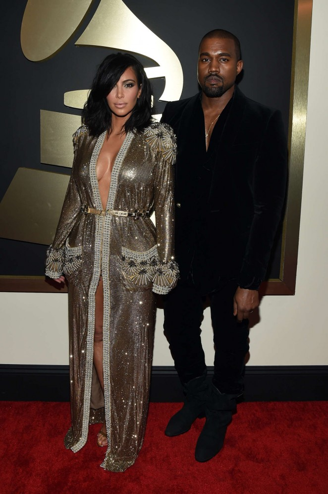 Kim Kardashian: 2015 GRAMMY Awards -04