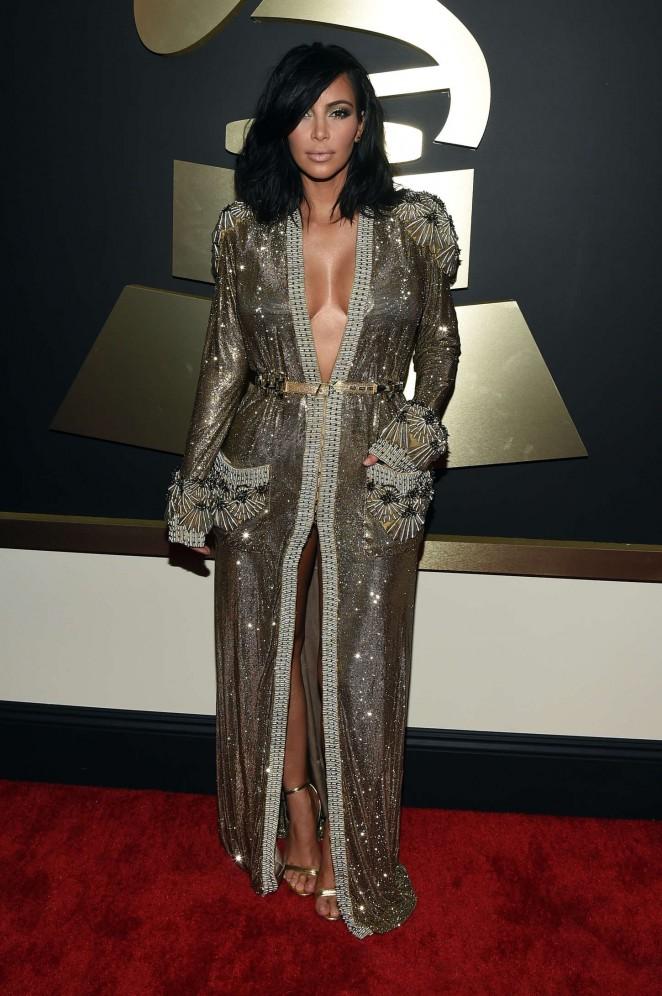 Kim Kardashian: 2015 GRAMMY Awards -05