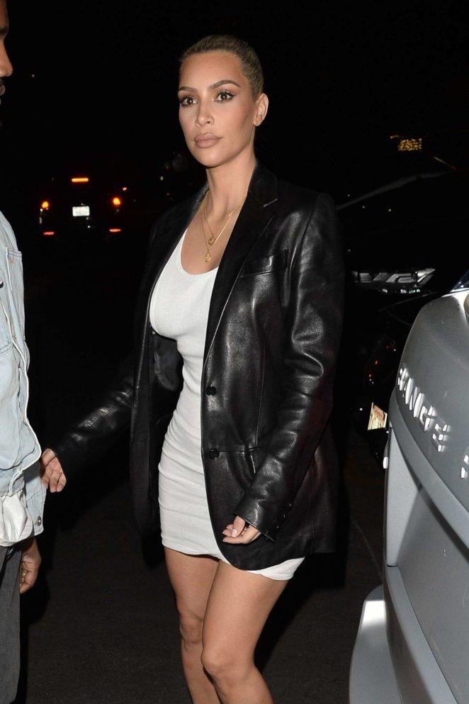Kim Kardashian and Kanye West – Arrives to Her 37th Birthday Party in Los Feliz