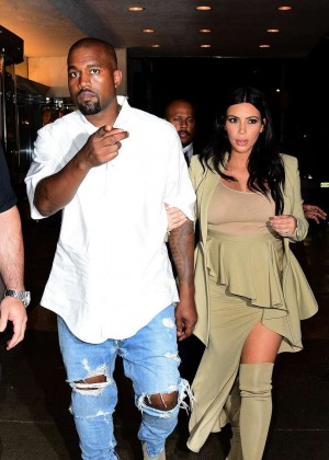 Kim Kardashian and Kanye West - Attend at Rihanna Party in NYC