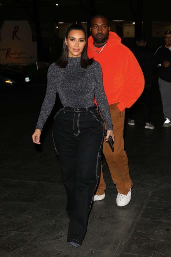 Kim Kardashian and Kanye West - Date night in Houston