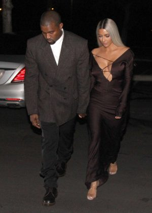 Kim Kardashian and Kanye West - Head out for a date night in LA