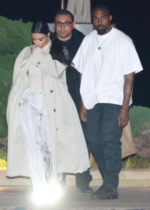 Kim Kardashian and Kanye West - Leaving Nobu in Malibu