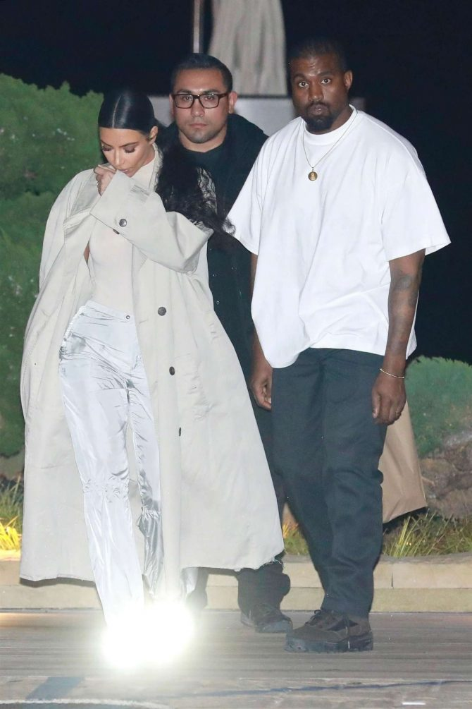 Kim Kardashian and Kanye West – Leaving Nobu in Malibu