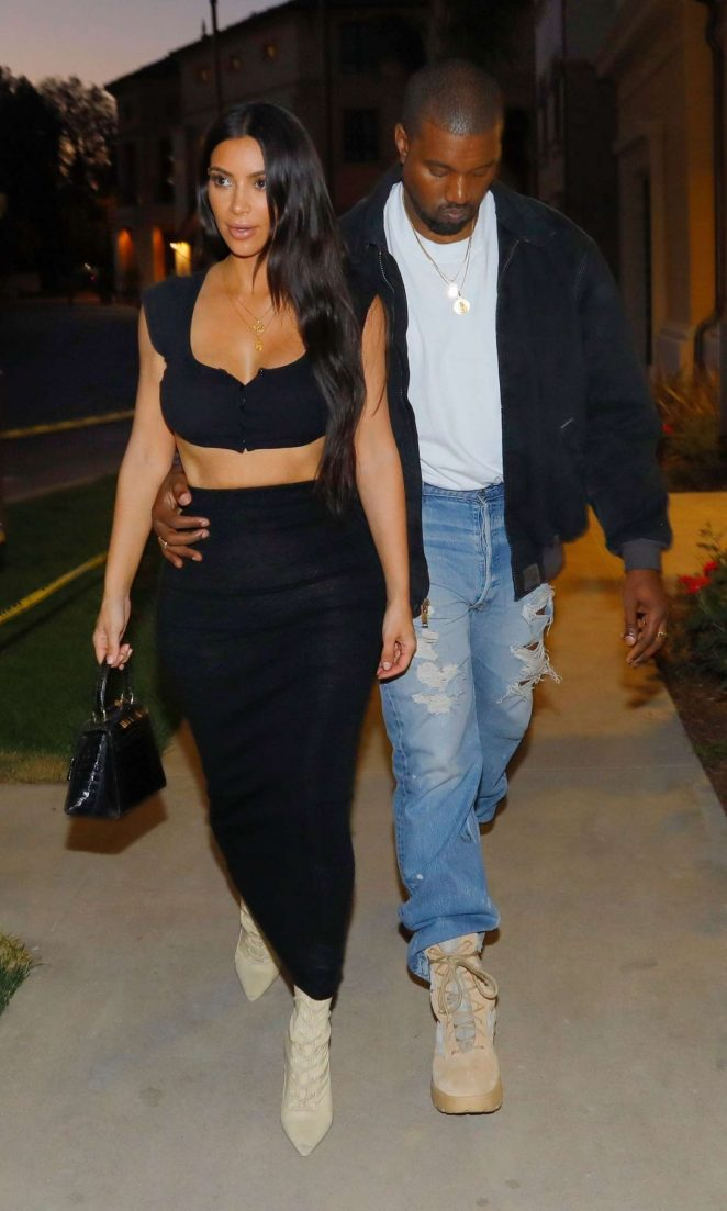 Kim Kardashian and Kanye West Night Out in Los Angeles