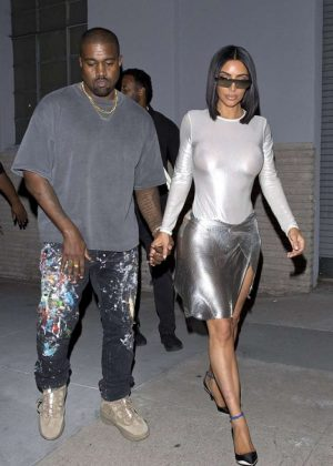 Kim Kardashian and Kanye West - Night Out in Los Angeles